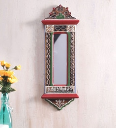 Brown Sheesham Wood Ethnic Mirror