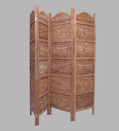 Brown Sheesham Wood Hand Crafted Partition Screen - 1538646