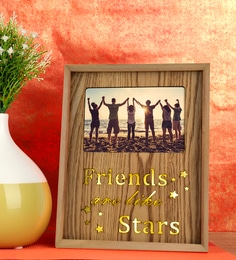 ce140aed9a5f Brown Wood   Mdf Friends Are Like Stars Photo Frame With Led Lights ...