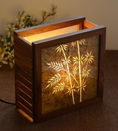 Brown Wood Table Lamp - 1607792
