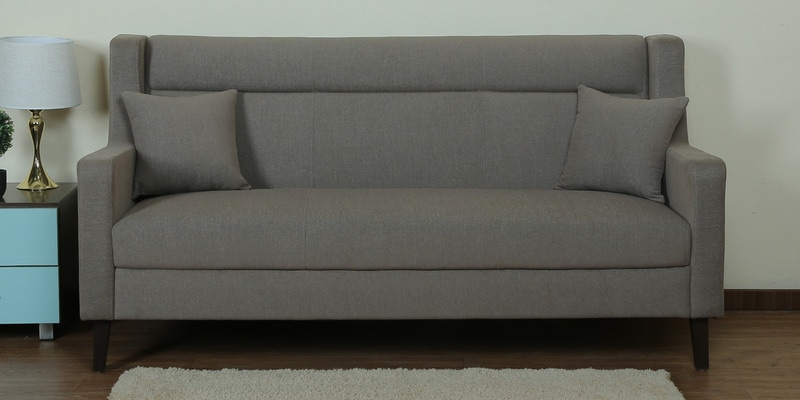 Three Seater Sofa In Crepe Pink Colour