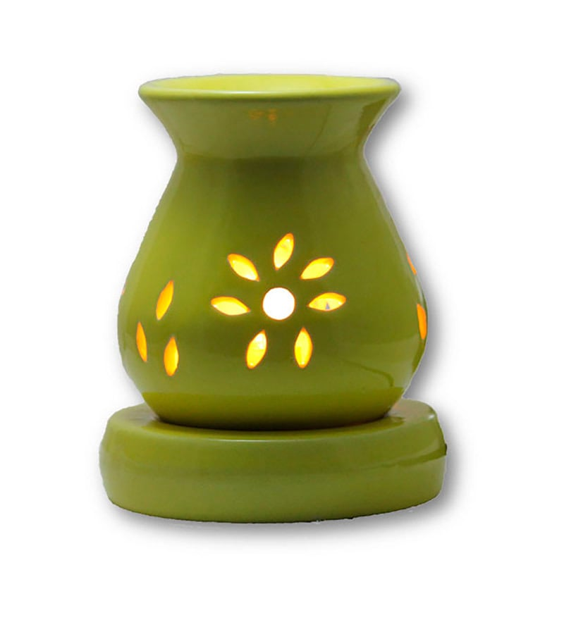 Yellow Electric Aroma Oil Burner by Brahmz