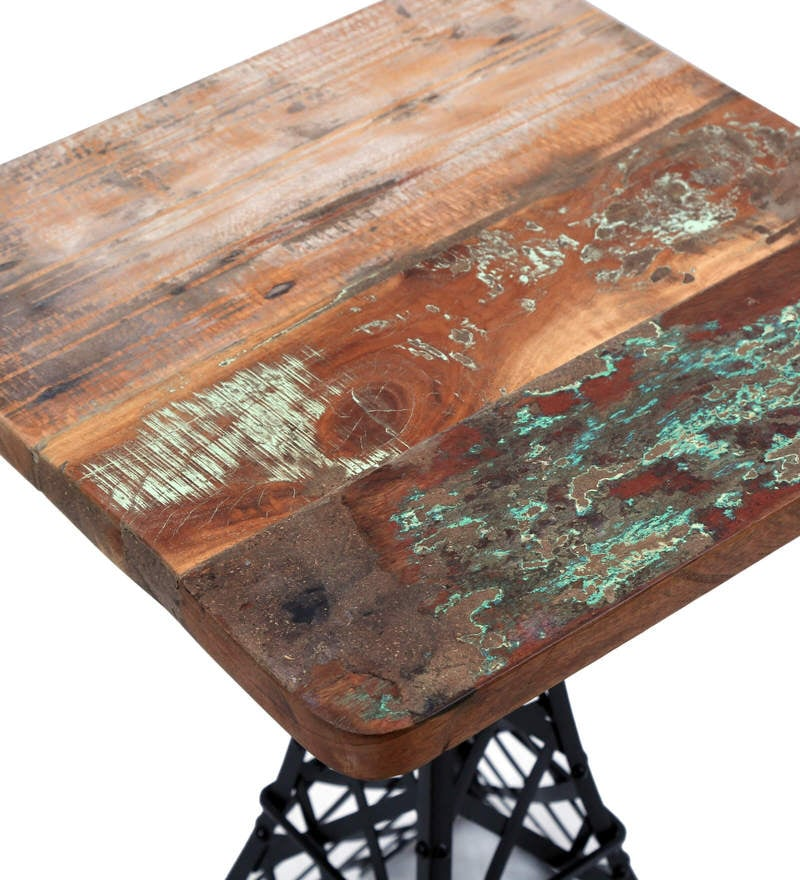 Brisco End Table in Distress Finish by Bohemiana