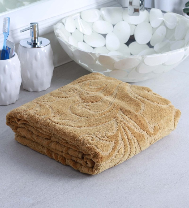 Brown 100% Cotton Bath Towel by Raymond Home