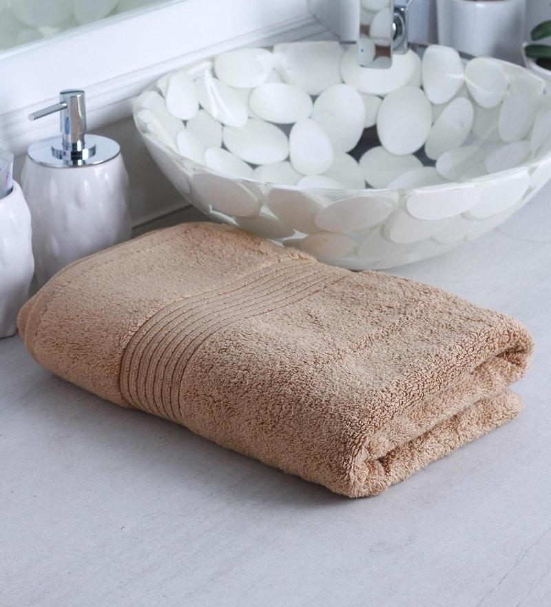 Brown 100% Cotton Bath Towel by Raymond Home