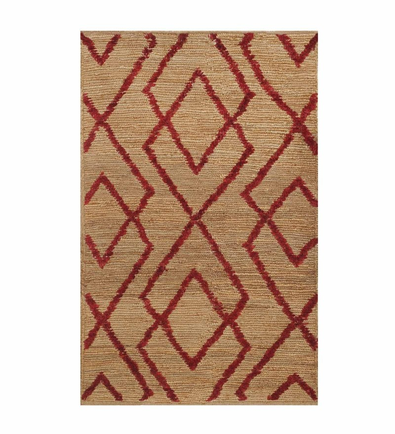 Brown Jute 72 x 48 Inch Carpet by Imperial Knots