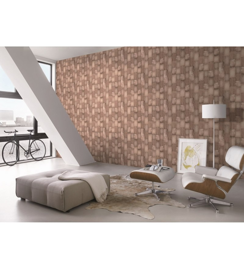 Brown Non Woven Fabric Modern Surfaces 21 x 394 Inch Wallpaper by Marshalls