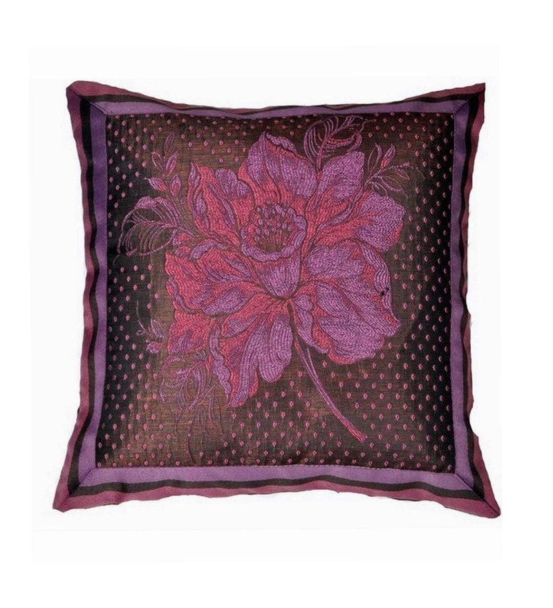 Brown Polyester 16x16 Inch Cushion Cover by Dreamscape