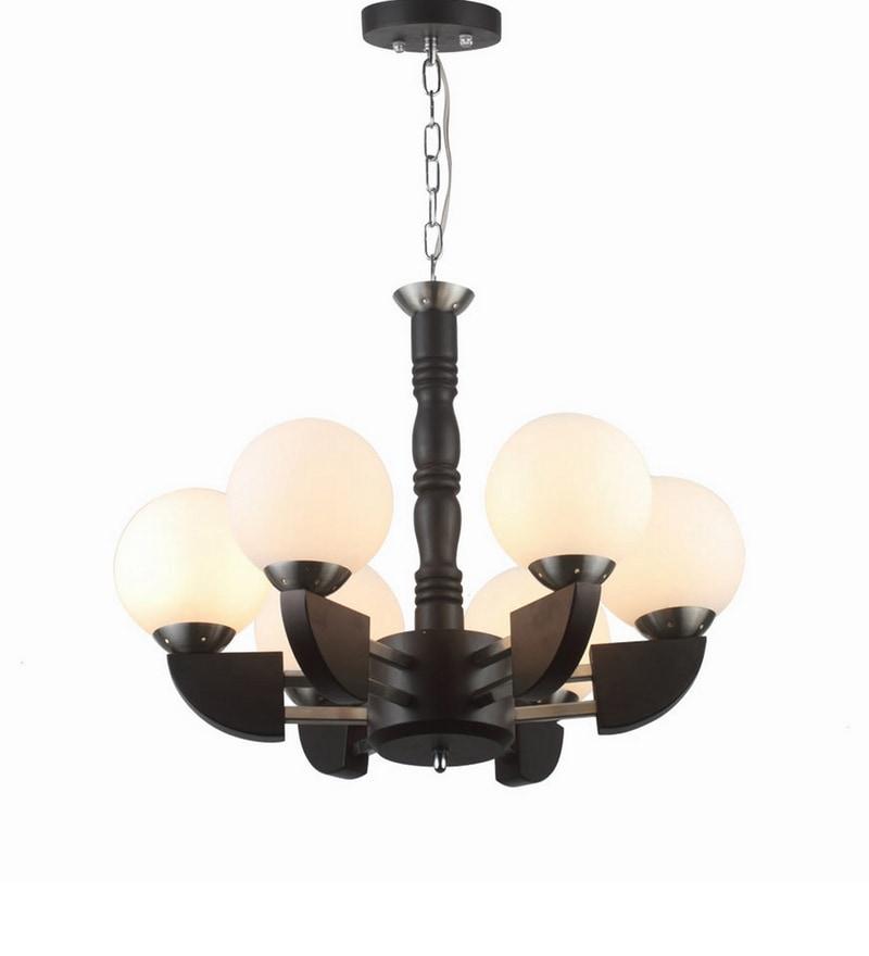 Brown Wood Chandeliers by LeArc Designer Lighting