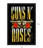 Fibre with Wood Texture 13 x 19 Inch Guns N Roses Two Guns Framed Posters by Bravado