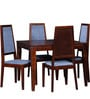 Brianna Four Seater Dining Set in Honey Oak Finish by Woodsworth