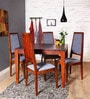 Brianna Four Seater Dining Set with Provincial Teak Finish by Woodsworth