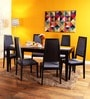 Brianna Six Seater Dining Set in Espresso Walnut Finish by Woodsworth