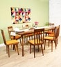 Bremerton Eight Seater Dining Set in Provincial Teak Finish by Woodsworth