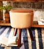 Hadise Stool in Light Brown by Bohemiana