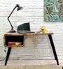 Omarion Study & Laptop Table in Multi-Color Distress Finish by Bohemiana