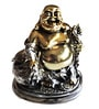 Browse House Bronze & Silver Polyresin Laughing Buddha