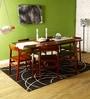 Brunilda Six Seater Dining Set in Honey Oak Finish by Woodsworth
