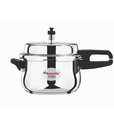Butterfly Curve Stainless Steel 5 Ltr Pressure Cooker With Outer Lid