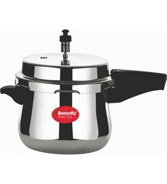 Butterfly Pearl Plus Aluminium 5 Ltr Pressure Cooker With Outer Lid