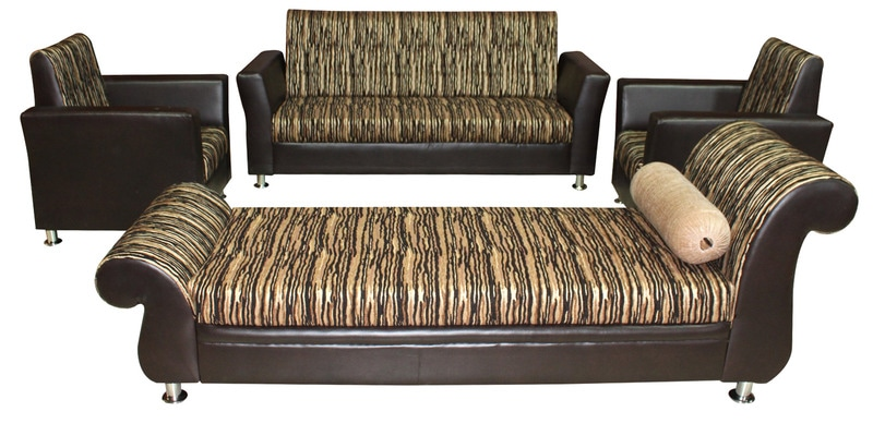 Buy buckardy sofa set 3 1 1 seater with diwan in for Diwan bed set