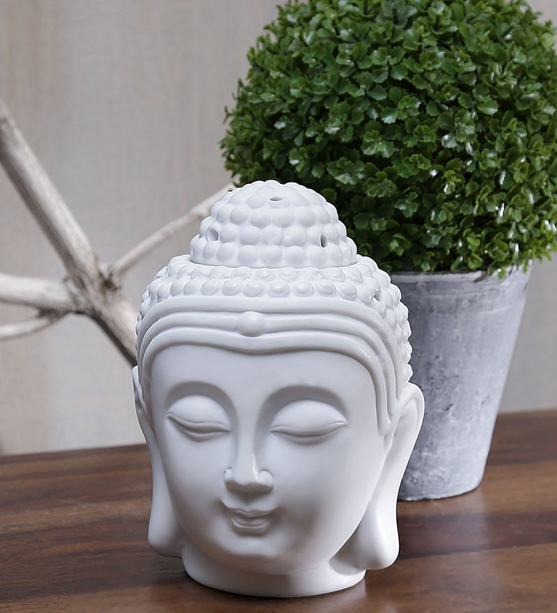Buddha Head Tea Light Oil Burner by Importwala.com
