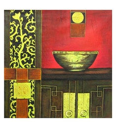 Canvas 24 X 0.2 X 24 Inch Equanimity Unframed Handpainted Art Painting