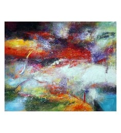 Canvas 32 X 0.2 X 24 Inch Dream Of Skies Unframed Handpainted Art Painting