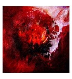 Canvas 32 X 0.2 X 32 Inch Fireball Unframed Handpainted Art Painting