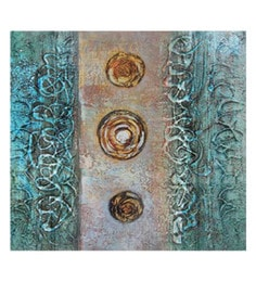 Canvas 32 X 0.2 X 32 Inch Unframed Handpainted Art Painting - 1633535