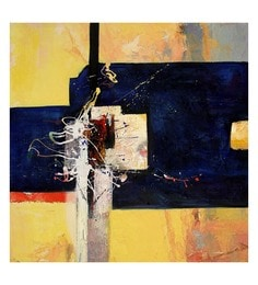 Canvas 32 X 0.2 X 32 Inch Unframed Handpainted Art Painting - 1633170