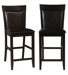 Caren Bar Chair (Set Of 2) In Cappuccino Finish By HomeTown