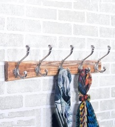 Casa Decor Heavy Duty Solid Wood & Metal 24 X 3.5 X 3.3 Inch Cloth Hook - 1640968