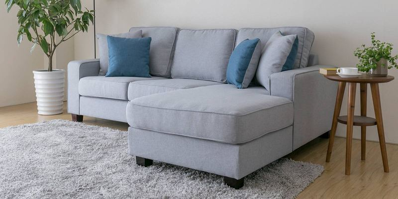 Buy Castilla LHS Two Seater Sofa with Lounger and Throw Cushions in ...