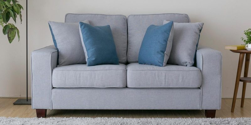 Castilla Two Seater Sofa in Chrome Grey Colour by CasaCraft