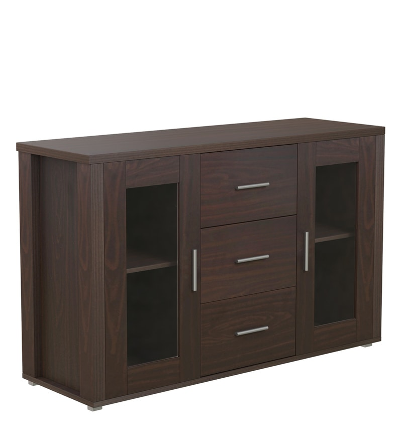 Buy Cabinet With Drawer In Walnut Finish By Godrej Interio Online