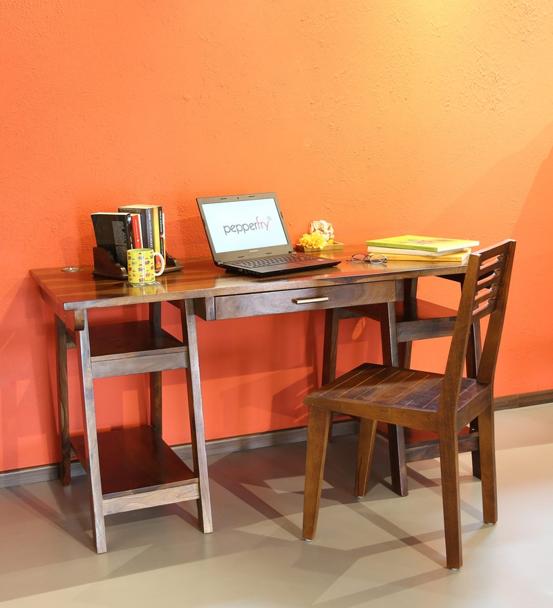 Rosendale Study & Laptop Table in Provincial Teak Finish by Woodsworth