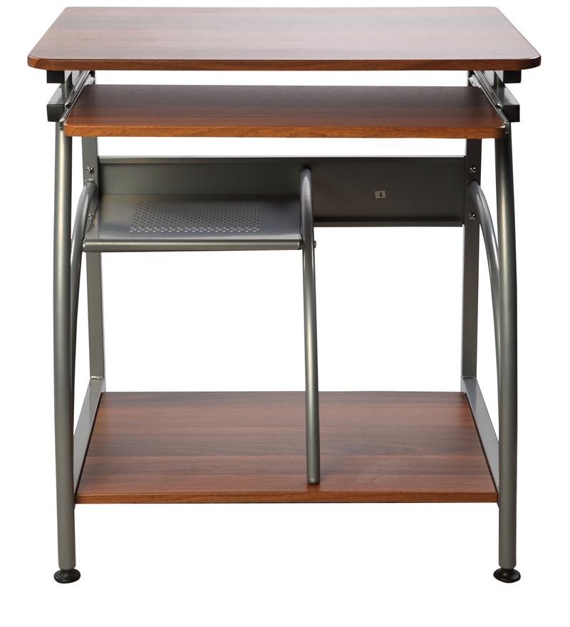 Buy Caliber 203 Study Table In Walnut Finish By Godrej