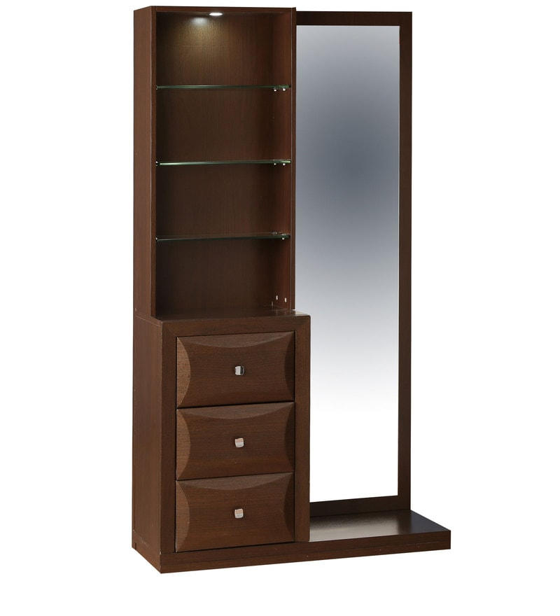 Buy cambry dressing table in walnut finish by hometown for Dressing table