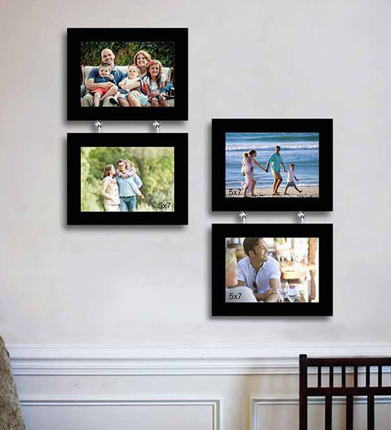 Mesa Decor Celestial Designer Wall Wood Photo Frame Collage 4 Frames