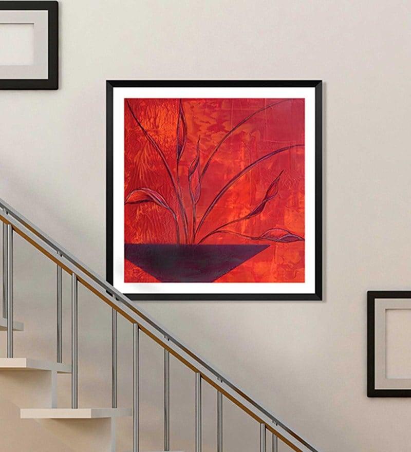 Canvas 18 x 18 Inch Framed Digital Art Print by Wallskin