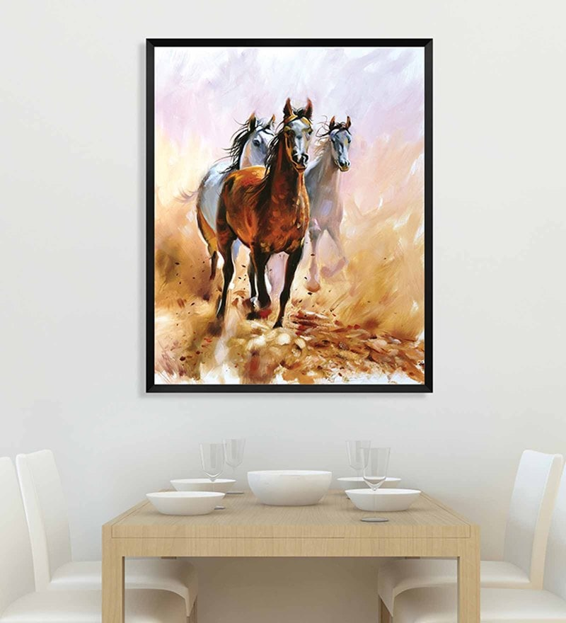 Canvas 18 x 24 Inch Framed Digital Art Print by Wallskin