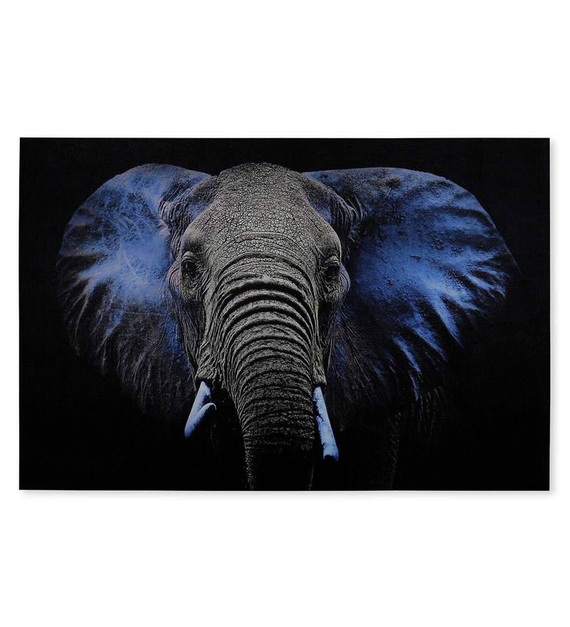 Canvas 35.43 x 1.1 x 23.62 Inch Forest Elephant Painting by @Home