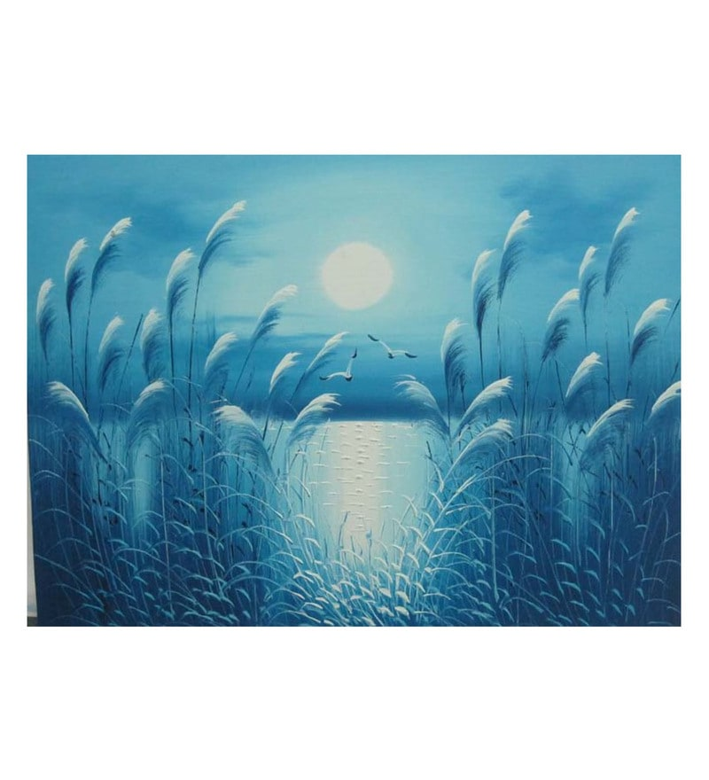 Canvas 36 x 0.2 x 24 Inch Heavenly Unframed Handpainted Art Painting by Fizdi Art Store