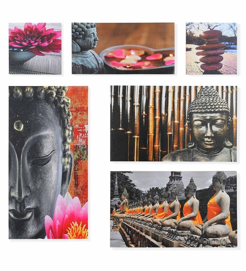 Canvas Buddha Painting - Set of 6 by @Home