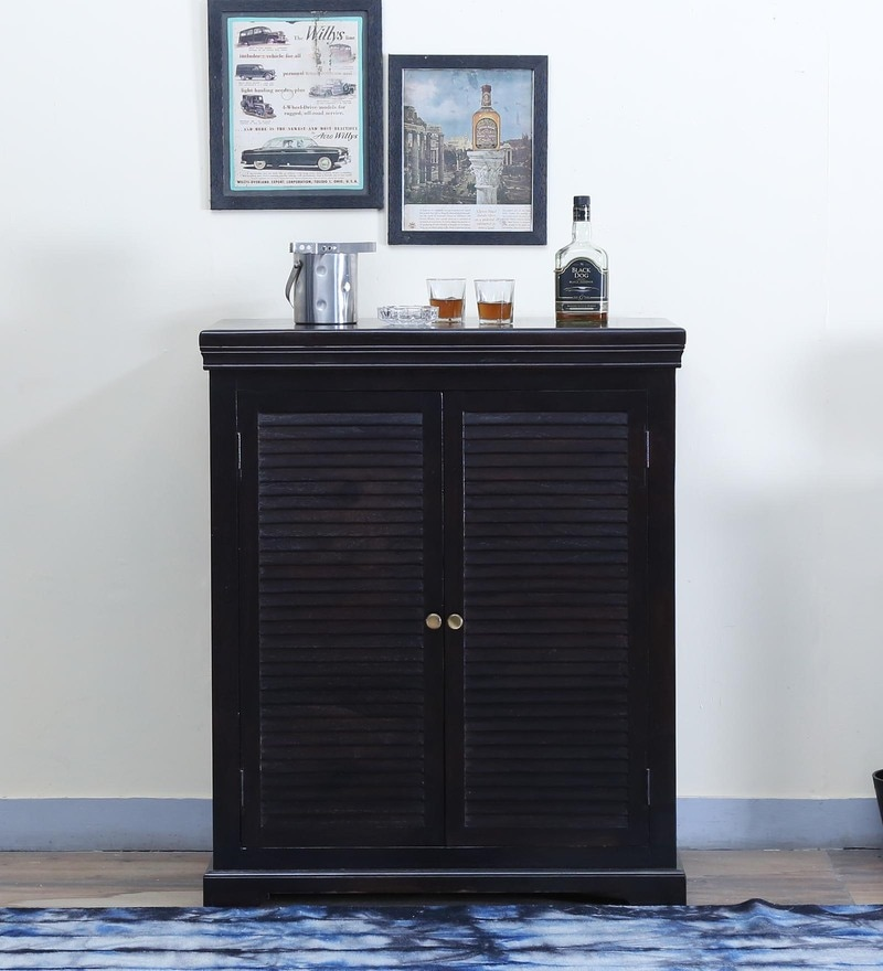 Carleson Bar Cabinet in Warm chestnut Finish by Amberville
