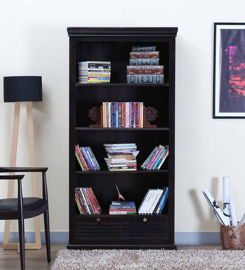Carleson Book Shelf in Warm chestnut Finish by Amberville