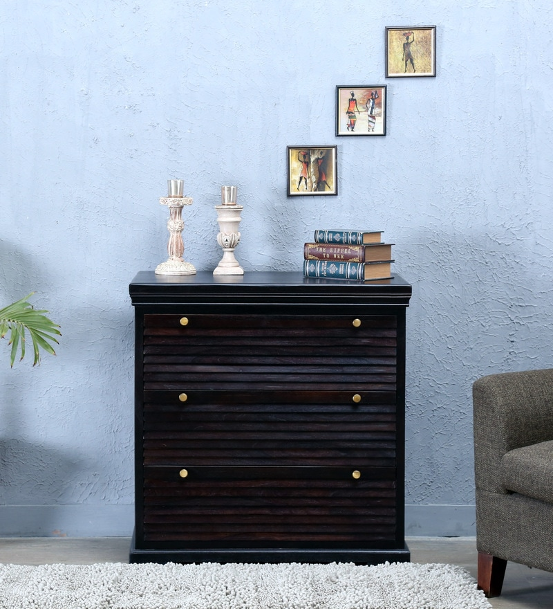 Carleson Chest Of Drawer in Warm chestnut Finish by Amberville