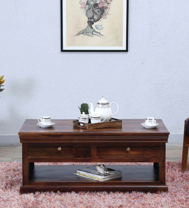 Carleson Coffee Table In Provincial Teak Finish By Amberville