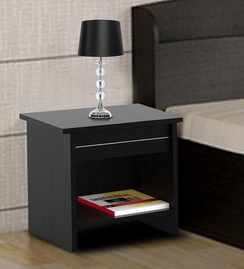 Buy Edwina Bed Side Table In Brown Color By Nilkamal Online